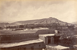 Bemaru village and defences from native base hospital [Kabul].
